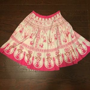 Pink and White Bead & Sequin Style Circle Skirt